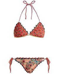 Anjuna - Crochet Trimmed Reversible Bikini - Lyst