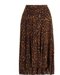 MASSCOB - Leopard-printed Midi Skirt - Lyst