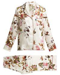 Morpho + Luna - Colette Floral-print Silk Pyjamas - Lyst