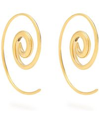 Noor Fares | Rainbow Spiral Coated Yellow-gold Earrings | Lyst