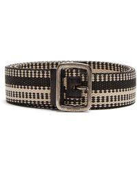 Saint Laurent - Leather-trimmed Belt - Lyst