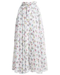 Emilia Wickstead - Evelyn Floral-print Linen Maxi Skirt - Lyst