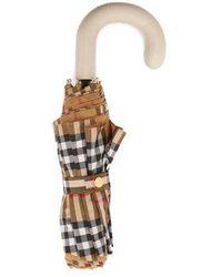 Burberry - - Parapluie vintage check pliant - Lyst