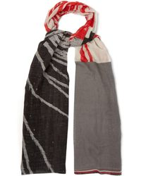 Title Of Work - Abstract Print Cotton Blend Scarf - Lyst