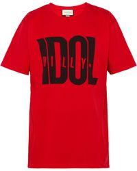Gucci - T-shirt imprimé Billy Idol - Lyst