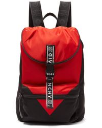 Givenchy - Light 3 Leather Trimmed Technical Backpack - Lyst