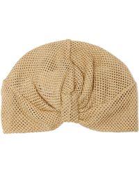 Missoni - Knotted Metallic Mesh Turban Hat - Lyst