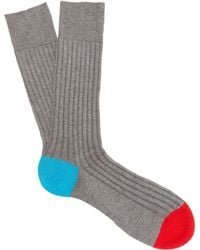 Pantherella - Portobello Contrast Colour Socks - Lyst