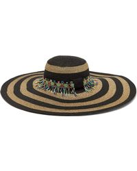 Etro - Striped Bead Embellished Straw Hat - Lyst