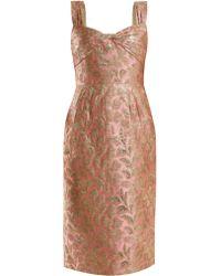 Prada - Sweetheart Neck Floral Brocade Dress - Lyst
