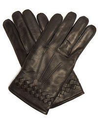 Bottega Veneta - Intrecciato-cuff Leather Gloves - Lyst