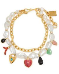Lizzie Fortunato - Positano Charm Freshwater-pearl Necklace - Lyst