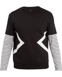 Neil Barrett - Modernist Striped Sleeve Sweater - Lyst