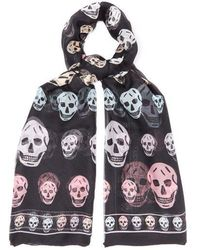 Alexander McQueen - Star And Skull-print Bandana Cotton Scarf - Lyst