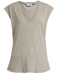 FRAME - V-neck Cotton-jersey T-shirt - Lyst