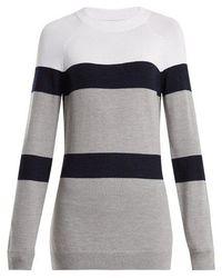 LNDR - Apres Striped Knit Wool Blend Jumper - Lyst