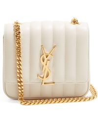 00c83e47b3 Saint Laurent Bellechase Leather And Suede Cross-body Bag - Lyst