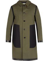 Mackintosh - Contrast Panel Bonded Cotton Overcoat - Lyst