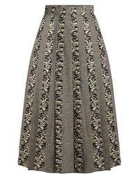 Sophie Theallet - Joline Prince Of Wales-checked Pleated Skirt - Lyst