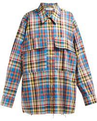 Marques'Almeida - Oversized Checked Raw Hem Shirt - Lyst