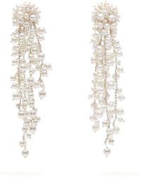 Oscar de la Renta - Faux Pearl Embellished Drop Earrings - Lyst
