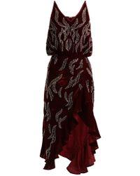 Dodo Bar Or - Agnes Bead-embellished Velvet Dress - Lyst