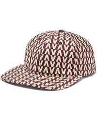 Valentino - Optical Print Cotton Cap - Lyst 13b00a52ed6