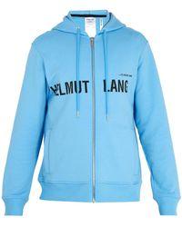 Helmut Lang - Logo-print Cotton Hooded Jumper - Lyst
