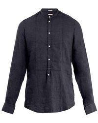 Massimo Alba - Mandarin-collar Linen Shirt - Lyst