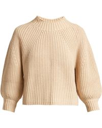 Apiece Apart - Merle Cropped Puff Sleeve Cotton Blend Jumper - Lyst