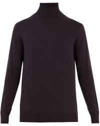 Raey - Roll-neck Cotton-knit Jumper - Lyst