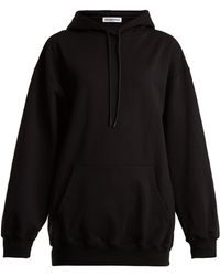 Balenciaga - Logo-print Cotton Hooded Sweatshirt - Lyst