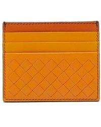 Bottega Veneta - Intrecciato Leather Cardholder - Lyst
