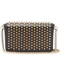 Christian Louboutin - Zoomi Studded Leather Clutch - Lyst
