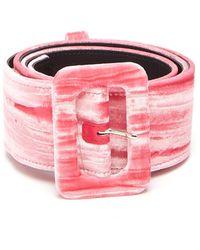 Attico - Velvet Buckle Belt - Lyst