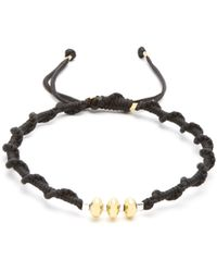 Black Dakini | Gold-vermeil And Cord Bracelet | Lyst