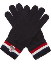 Moncler - Striped Wool Gloves - Lyst