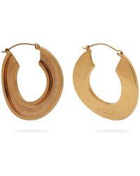 Marni - Open Hoop 24kt Gold-plated Earrings - Lyst