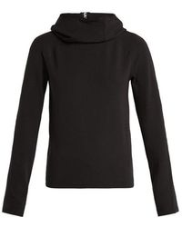 Paco Rabanne - Logo-ribbon Funnel-neck Hooded Top - Lyst