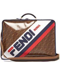 Fendi - Mania Ff Coated Canvas Suitcase - Lyst