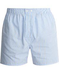 Derek Rose - James Cotton-poplin Boxer Shorts - Lyst