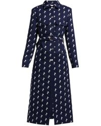 Chloé - Embroidered Wool-twill Trench Coat - Lyst