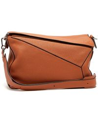 Loewe - Puzzle Extra Large Grained Leather Bag - Lyst