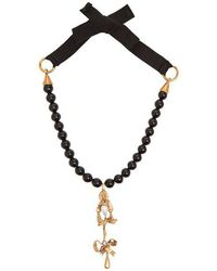 Valentino - Faux-pearl Beaded Necklace - Lyst