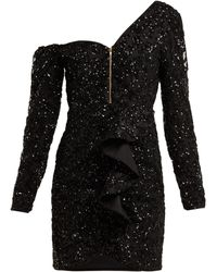 Self-Portrait - Mini Robe Ornée De Sequins - Lyst
