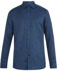 Etro - Floral-jacquard Single-cuff Cotton Shirt - Lyst