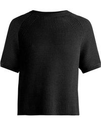 Weekend by Maxmara - Crossed-back Cotton And Wool-blend Jumper - Lyst