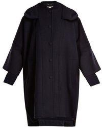 Stella McCartney - Oversized Hooded Wool Coat - Lyst
