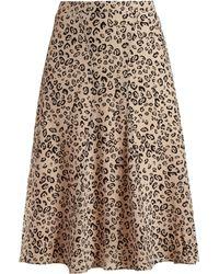 Altuzarra - Caroline Leopard Print Skirt - Lyst