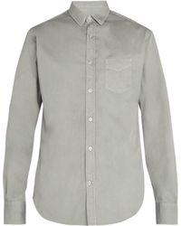 Officine Generale - Lipp Stitch Cotton Piqué Shirt - Lyst